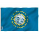 South Dakota State Flag - South Dakota SD Flag Polyester with Brass Grommets 3X5Ft Banner USA