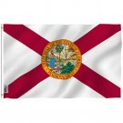 Florida State Polyester Flag - FL State Flag Polyester with Brass Grommets 3X5Ft Banner USA