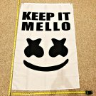 Marshmallow Keep It Mellow Flag Happier Banner Poster Rare 3x5ft