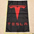 Tesla Flag Red & Black Cars Elon Musk Banner Poster Flags 3x5ft