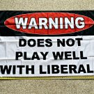 Donald Trump Flag Does Not Play With Liberals USA Sign Poster 3x5ft