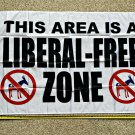 Donald Trump Flag 3x5ft Liberal Free Zone Navy USA 2020 Sign Poster