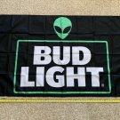 Bud Light Flag 3x5ft Black Alien Dilly Dilly Bud Poster Banner Sign Cool