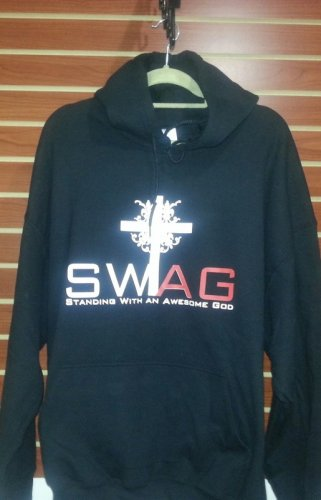 Hooded Sweatshirt (Standing with an Awesome God) SWAG