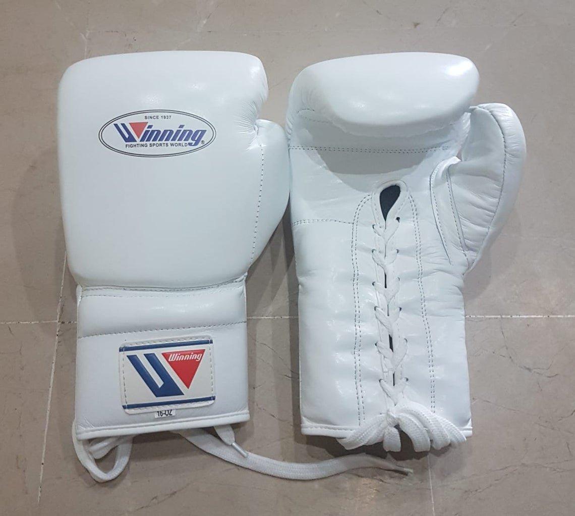 Custom Made, White, Winning Boxing Gloves
