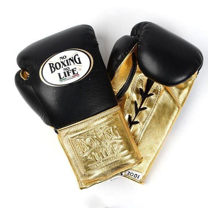 Custom Made, NO BOXING NO LIFE Gloves BLACK & GOLD