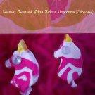 Lemon Scented Handmade Zebra Unicorn Earrings