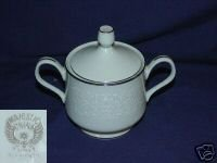 Majestic China Plymouth Pattern Sugar Bowl with Lid