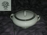 Noritake 5683 Platinum Trim Sugar Dish with Lid