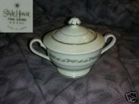 Style House Fine China Regal Sugar Dish with Lid