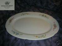 Pfaltzgraff Floral Design Oval Serving Platter
