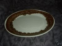 Pfaltzgraff Tan Drip 1 Oval Serving Platter
