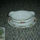 Noritake Phyllis Gravy Boat with attached Underplate