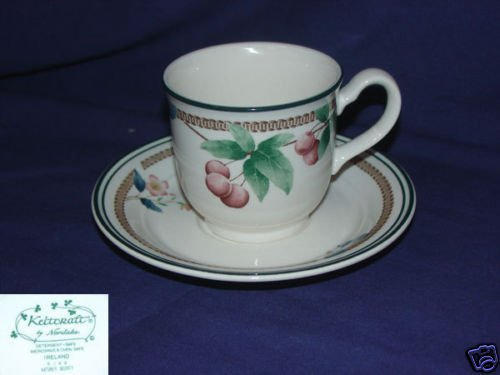 Noritake Nature's Bounty 4 Cup and Saucer Sets