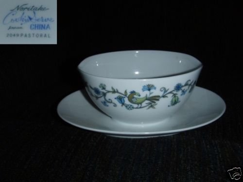 Noritake Pastoral 1 Gravy Boat with Underplate