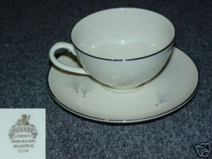 Pickard Whisper 4 Cup and Saucer Sets