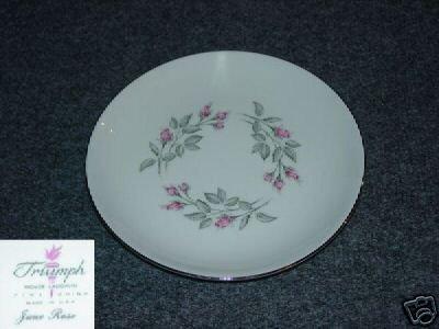 Homer Laughlin Triumph June Rose 4 Bread Plates