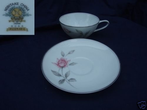 Noritake Rosemarie 4 Cup and Saucer Sets