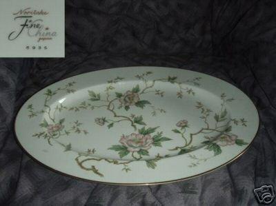 "Noritake Pattern 6935 Oval Serving Platter - 17 1/4"""