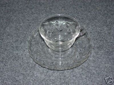Fostoria Sprite 2 Footed Cup and Saucer Sets