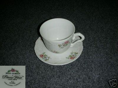 Princess House Rose Garden 6 Cup and Saucer Sets