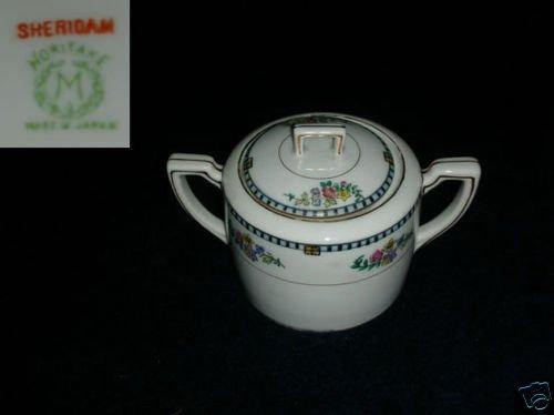 Noritake Sheridan 1 Sugar Dish ( Bowl ) with Lid