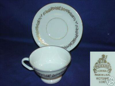 Pickard Victoria 4 Cup and Saucer Sets