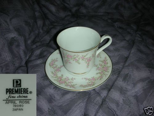 Premiere April Rose 1 Cup and Saucer Set