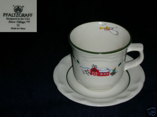 Pfaltzgraff Snow Village 3 Cup and Saucer Sets
