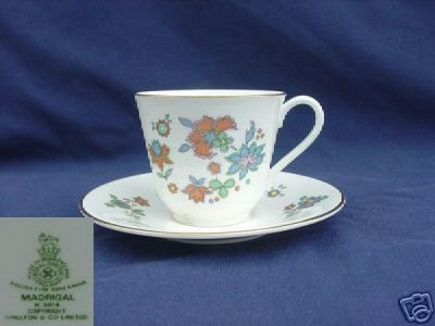 Royal Doulton Madrigal 3 Cup and Saucer Sets - MINT