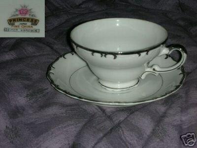 Princess - Japan Silver Baroque 1 Cup and Saucer Set