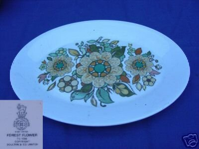 "Royal Doulton Forest Flower 1 Platter 13"" x 10""  - MINT"