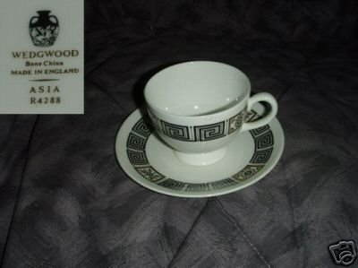 Wedgwood Asia - Black 5 Cup and Saucer Sets