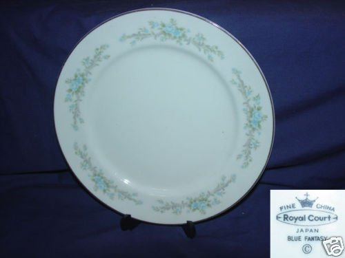 Royal Court Blue Fantasy 4 Luncheon Plates