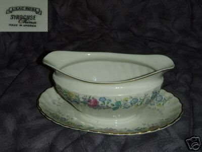 Syracuse Lilac Rose Gravy Boat with Underplate