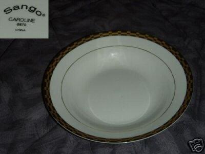 Sango Caroline 4 Rimmed Soup Bowls