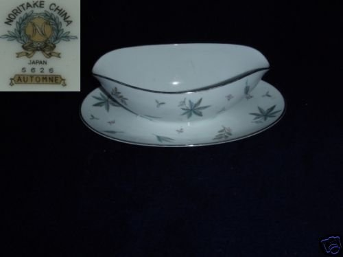 Noritake Automne 1 Gravy Boat with Attached Underplate