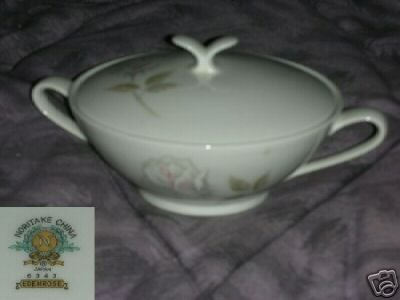 Noritake Edenrose Sugar Dish ( Bowl ) with Lid