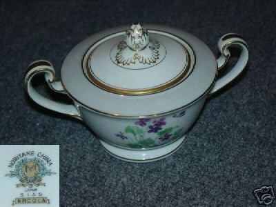 Noritake Arcola Sugar Dish ( Bowl ) with Lid