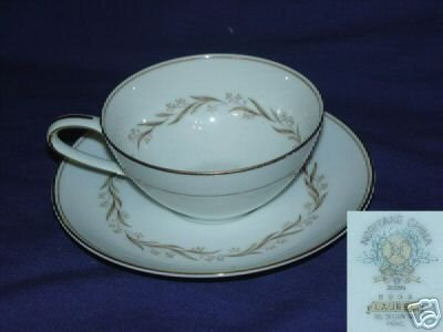 Noritake Laurel 4 Cup and Saucer Sets