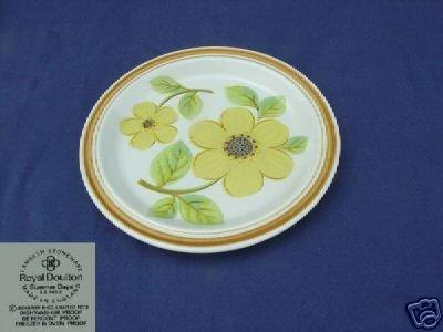 Royal Doulton Summer Days 4 Salad Plates - MINT