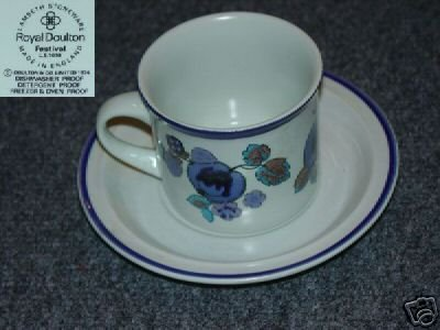 Royal Doulton Festival 1 Cup and Saucer Set - MINT