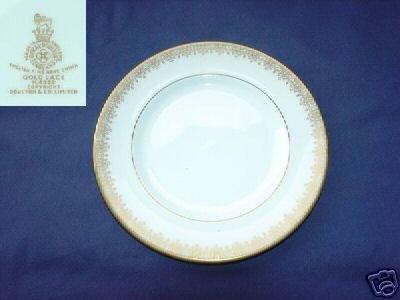 Royal Doulton Gold Lace 4 Bread and Butter Plates MINT