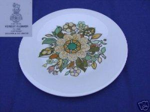 Royal Doulton Forest Flower 4 Dinner Plates - MINT