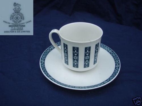Royal Doulton Moonstone 5 Cup and Saucer Sets