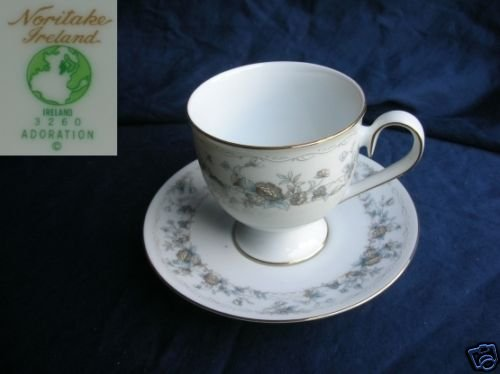 Noritake Adoration 4 Cup and Saucer Sets
