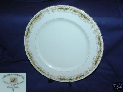 Signature Select Fine China Queen Anne 4 Dinner Plates