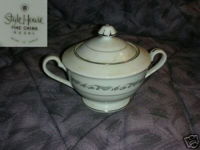 Style House Fine China Regal Sugar Dish Bowl with Lid