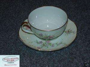 Theodore Haviland NY Rosalinde 4 Cup Saucer Sets - MINT