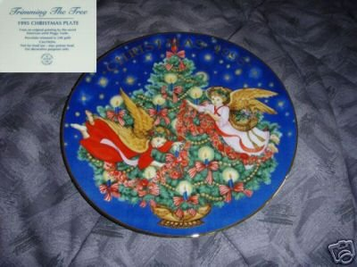 Avon Trimming the Tree 1995 Collector Plate